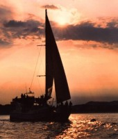 catamaran-lloret-sunset