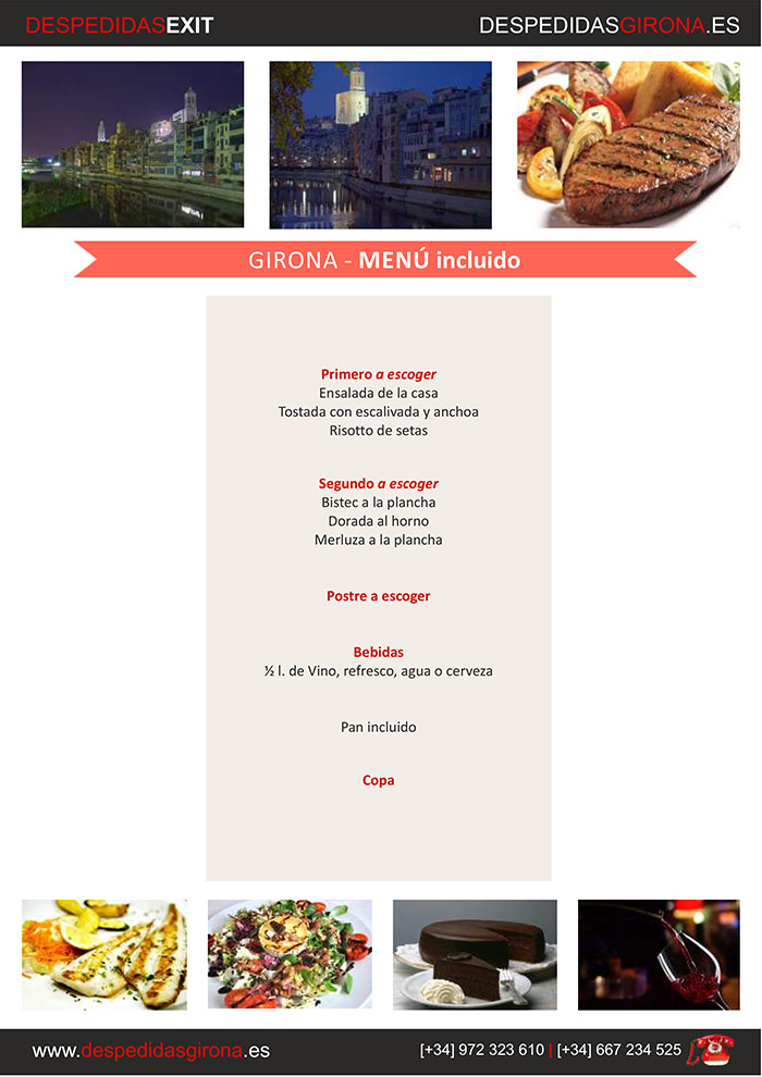 Menú despedida Girona